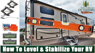 How to Level & Stabilize Tips and Tricks Leveling Blocks RVs Campers Travel Trailers Colorado Dealer