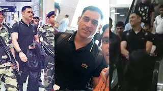 Ms Dhoni Returns To Ranchi Smiling After India's World Cup 2019 Exit