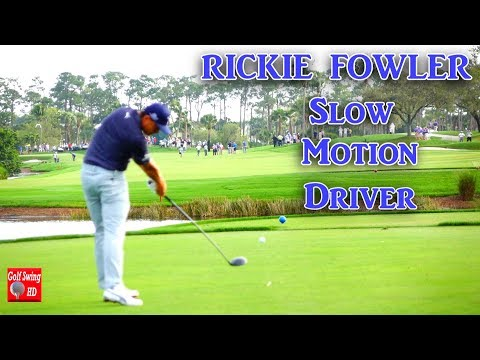RICKIE FOWLER 120fps DTL SLOW MOTION DRIVER GOLF SWING 1080 HD