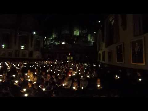 """Candlelighting & """"Silent Night, Holy Night"""" from Brown's 100th Service of Lessons and Carols"""