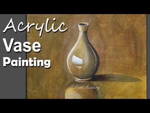 Still Life in Acrylic | How to Paint A Vase