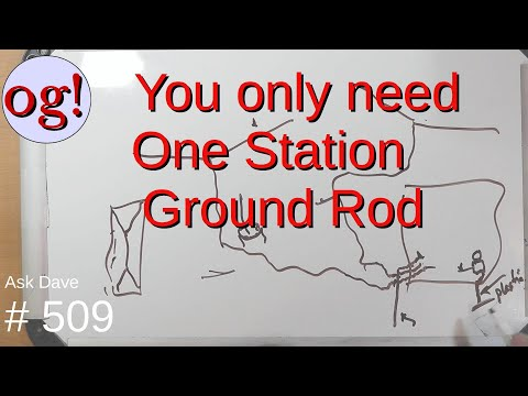 You only need one Station Ground Rod (#509)