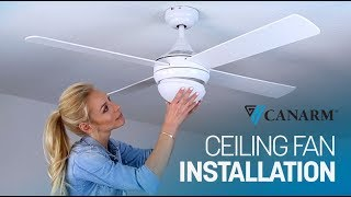 Video: How to Install a Ceiling Fan | Canarm
