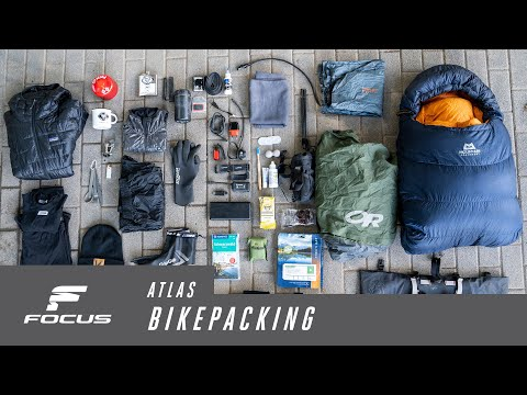 How to pack your bikepacking gear on a FOCUS ATLAS gravel bike.