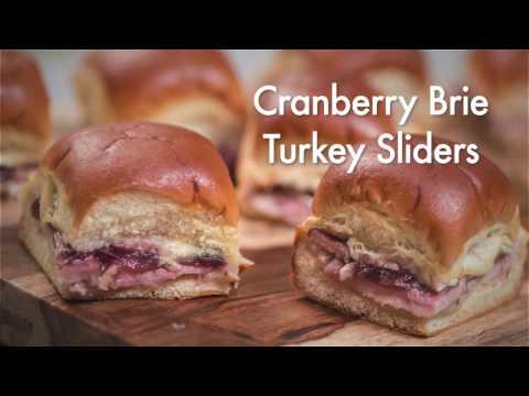 Cranberry Brie Turkey Sliders