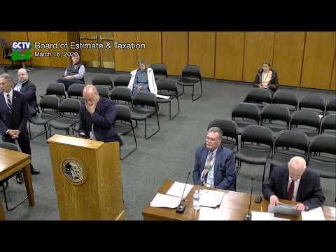 Board of Estimate and Taxation, March 16, 2020