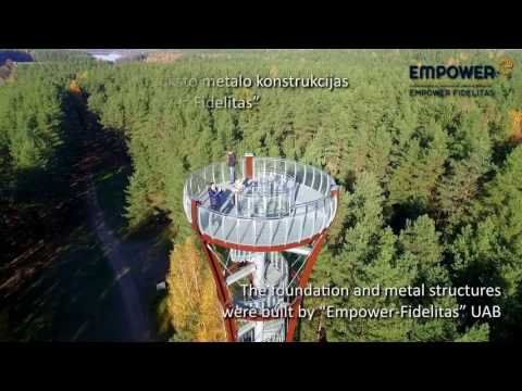Empower constructing the observation tower in Labanoras Regional Park, Lithuania
