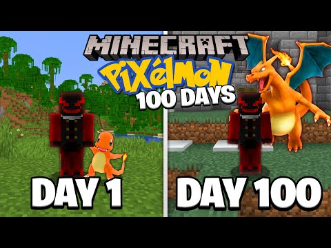 I Played Minecraft Pixelmon For 100 Days...