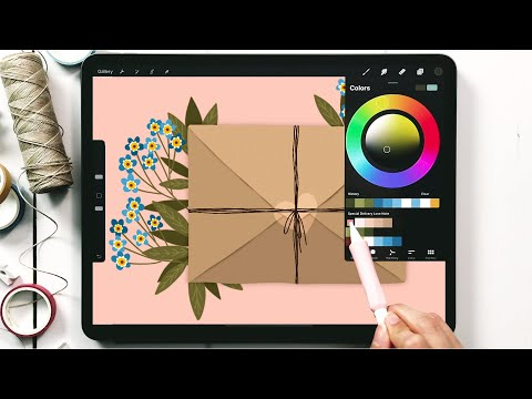 Paint a Floral Love Letter in Procreate [Valentine's Series!]