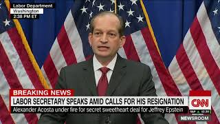 Alexander Acosta defends role in Jeffrey Epstein scandal