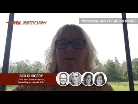 SEO Surgery #6 Promo by Marie Haynes