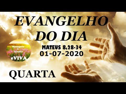 EVANGELHO DO DIA 01/07/2020 Narrado e Comentado - LITURGIA DIÁRIA - HOMILIA DIARIA HOJE