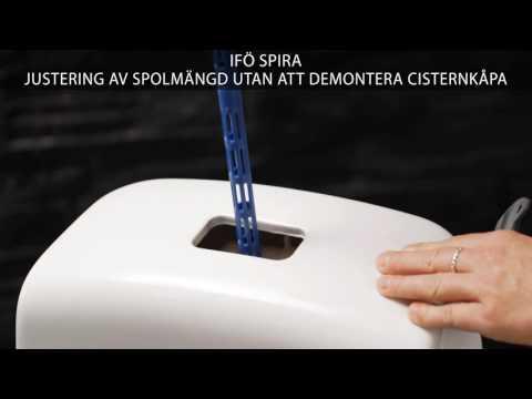 Justering av spolmångd utan att demontera cisternkåpa - Ifö Spira toalett