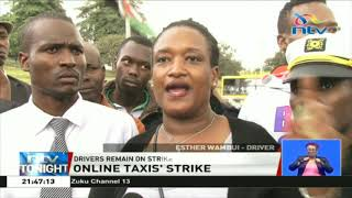 Online taxi drivers remain on strike for the third day running