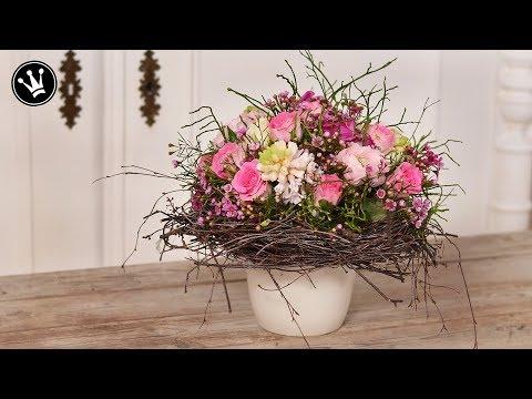 DIY – Frühlingsdeko   Valentinstag Geschenk   Strauß wie vom Floristen ganz einfach selber machen  