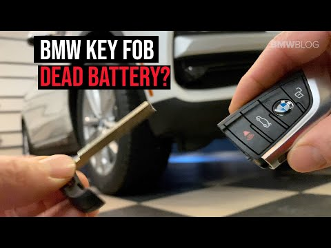 How to unlock and start your BMW with a dead key fob