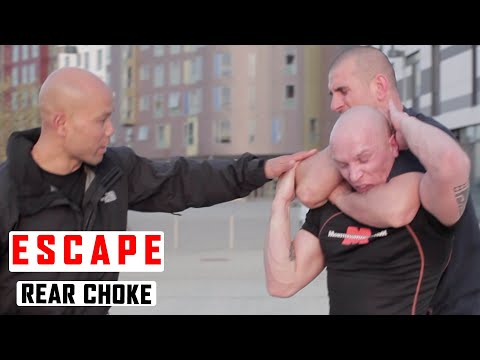 How to Escape a Standing Rear Choke ✅ Lesson 2
