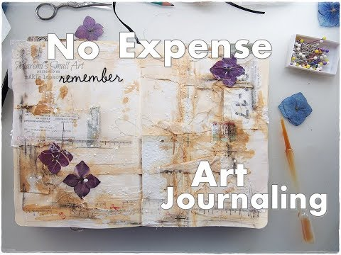 No Expense, using household items Art Journaling ♡ Maremi's Small Art ♡