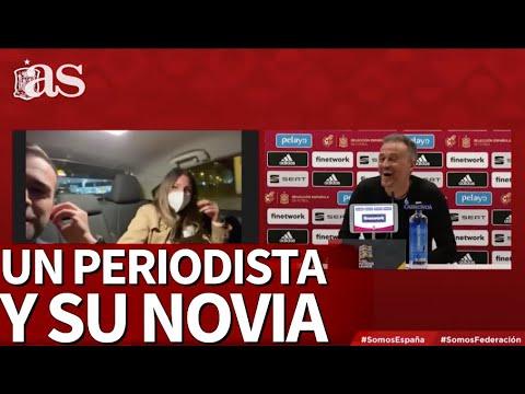 Ya es historia de la televisión: Luis Enrique y el épico momento de un periodista con su novia