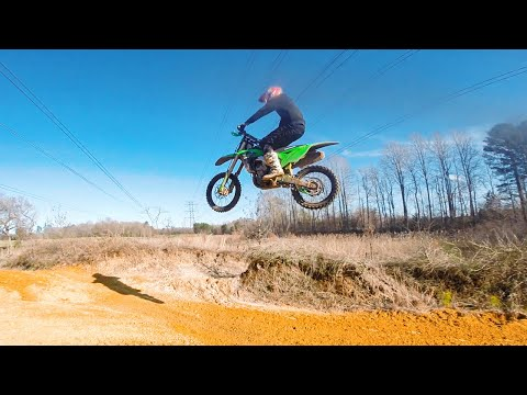 Wrecked my KX250F on a Jump