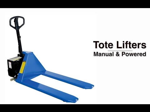 Tote Lifters Manual & Powered Feature Video