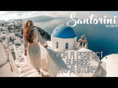 Sunrise in Oia, Storm in Thira, SANTORINI – Vlog 4