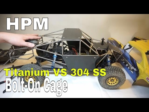 HPM Bolt-On Metal Cage For Axial Yeti Score Trophy Truck - Unbox and Install - UCerbnOYwiVAIz8hmhHkxQ8A
