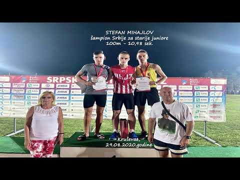 Stefan Mihajllov, najbrži junior Srbije na 100m