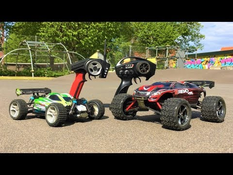 WLToys A959-B vs Traxxas Mini E-Revo VXL! GPS Speed Test & Jump Competition! High Speed RC Cars! - UCHcR-O2hVrKGKRYvN1KUjOg