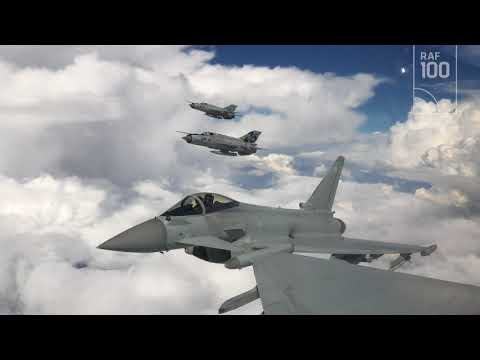 RAF Typhoons fly with MiG's 21s