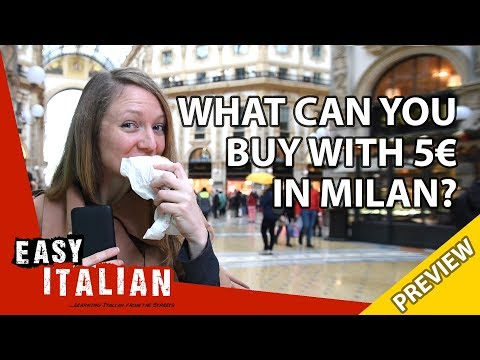 What can you buy with 5€ in Milan? (Trailer) | Easy Italian 25 photo