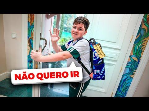 O PRIMEIRO DIA DE AULA NA ESCOLA NOVA DO GABRIEL