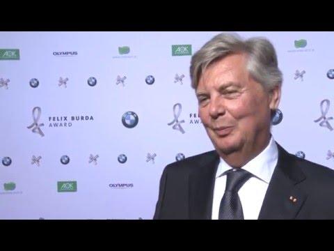 Gründungsmitglied Dr. Berndt Birkner beim Felix Burda Award 2016