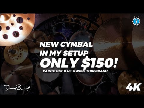 New $150 cymbal in my lineup! // Paiste PST X 18