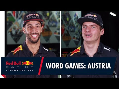 "Lederhosen, Apfelstrudel and Falco"" Daniel Ricciardo and Max Verstappen play Austrian Word games!"
