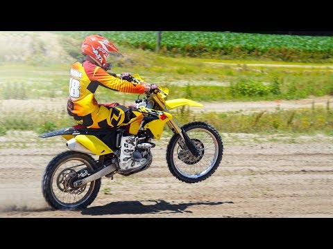 RMZ 250 Crashes and Fun Moments