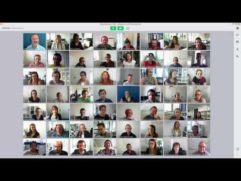 alfaview® - Lippensynchrone Videokonferenz mit 50 Teilnehmern