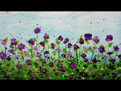 Spring Flowers Acrylic Painting Demonstration | Easy Impressionist  Floral Painting