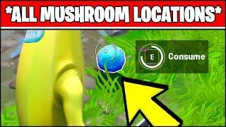 CONSUME FORAGED MUSHROOMS LOCATIONS (Fortnite SEASON X Week 3 ALL MUSHROOM LOCATIONS)