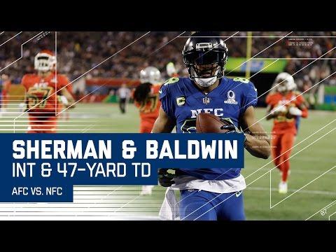 Sherman INT Leads to Doug Baldwin Long TD! | 2017 NFL Pro Bowl Highlights