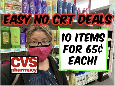 CVS - NO CRT DEALS (4/18 - 4/24) | 10 ITEMS FOR 65¢ EACH!
