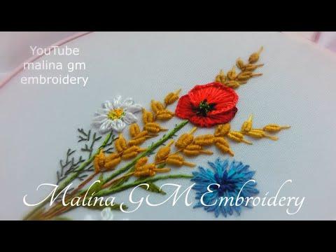 Embroidery: Bouquet Wildflowers*Вышивка: Полевые цветы*Bordado a mano