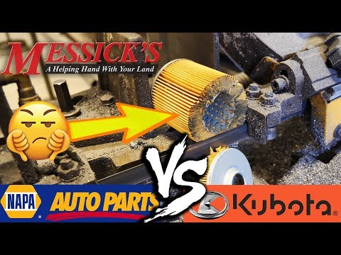 NAPA VS KUBOTA (hydraulic oil filters) - What's inside??? Picture