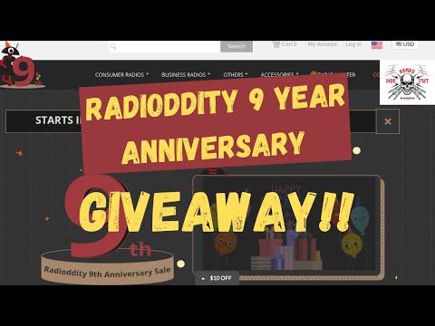 Radioddity 9 Year Anniversary Giveaway Live Stream