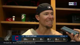 Tyler Clippard is grateful to have Yasiel Puig's arm behind him   INDIANS-YANKEES POSTGAME