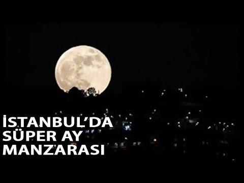 Süper Ay İstanbul Semalarında Böyle Görüntülendi