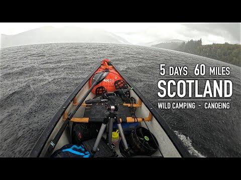 5 Day   60 Mile Wilderness Canoe Trip in Scotland: Great Glen Canoe Trail