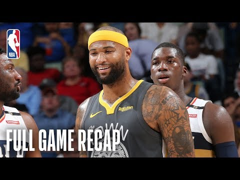 WARRIORS vs PELICANS | DeMarcus Cousins Leads Dubs With 21/12 | April 9, 2019
