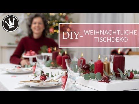Weihnachtsdeko selber machen | 6 DIY IDEEN – Tischdeko | weihnachtlich dekorieren | GEWINNSPIEL