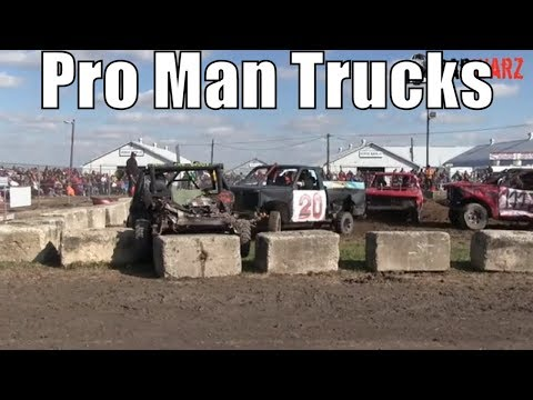 Pro Mans Truck Class At Brigden Fair Demolition Derby 2018